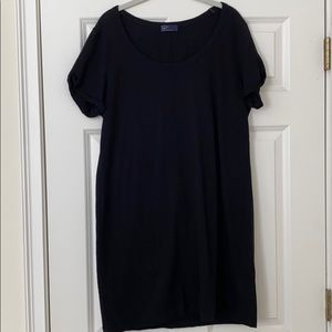 Gap black casual cap sleeve dress XL